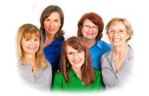 The Coaches of Gift Family Services LtoR: Joann DiStefano, Susan David, Lynn Cooper, Sally Ankerfelt, Gayle Swift