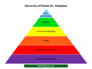 Adoptive Families Need Peer Relationships with Others Steeped in the Adoption Experience.hierarchy of needs for adoptees