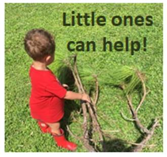 Values in Action: Learning to Contribute: little ones can help too