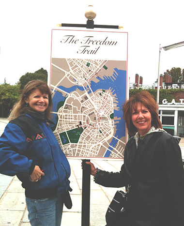 Joann DiStefano and Susan David at The Freedom Trail