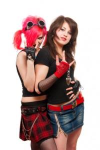 Two punk girls