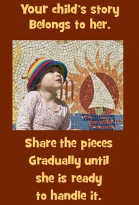 Mosaic pieces.child's story belongs to her