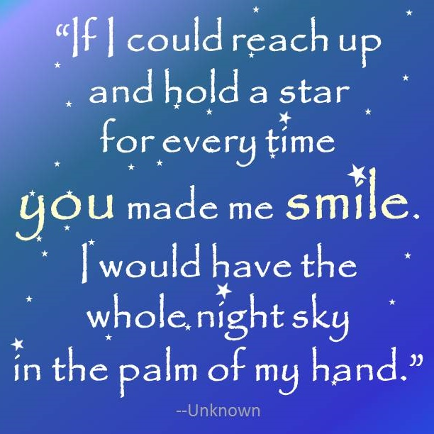 Smile night sky
