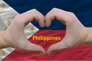 Philippines flag caption