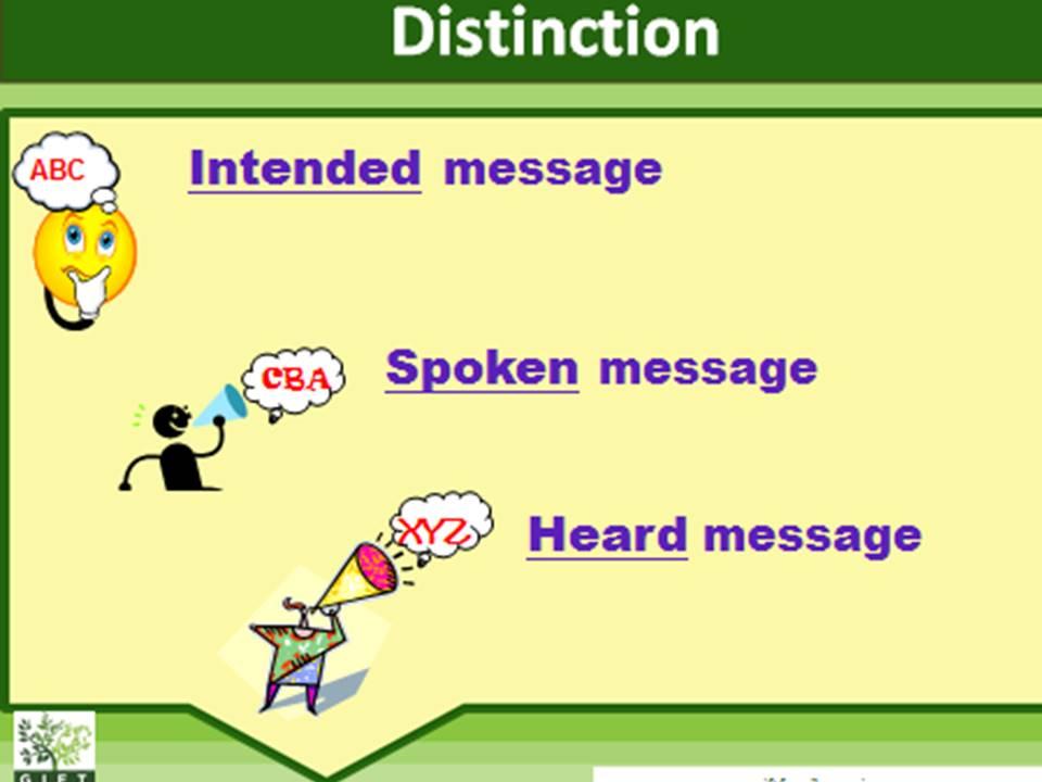 Distinction.Think Speak Hear