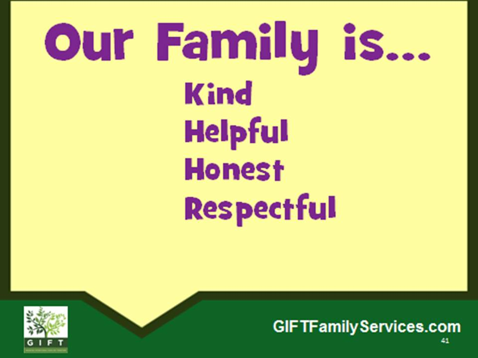 our family is...