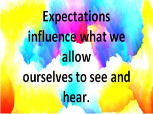 Perception, Reality and Updating Family Systems, expectations influence perceptions